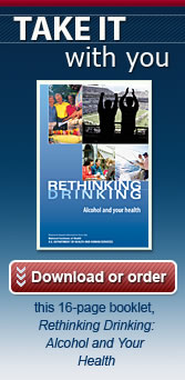 Download or Order the 16-page Rethinking Drinking Booklet